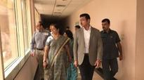 Rajyavardhan Rathore makes surprise inspection at JLN Stadium