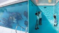 This fake swimming pool messes with your mind