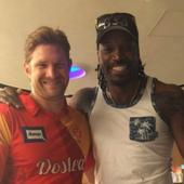 Chris Gayle buries hatchet with Shane Watson after 'Don't Blush Baby' incident