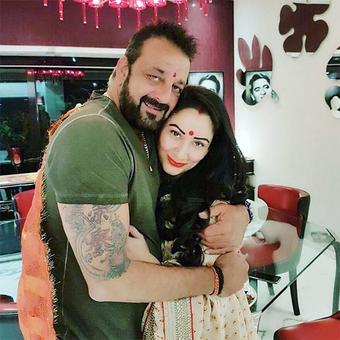 PHOTO: Sanjay Dutt-Manyata celebrate Karva Chauth