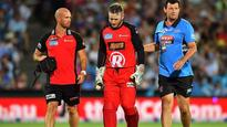 BBL: Peter Nevill struck in face with Hodge's bat as Renegades beat Strikers