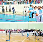 President opens new Rs. 279 million National Sports Complex in Matara