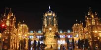 A view of the Chatrapati Shivaji Terminus before observing Earth Hour