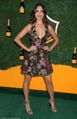 Lea Michele chose to cover up her curves at the Veuve Clicquot Polo Classic in LA