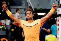 Nadal, Murray set up semi-final in Madrid epa05292113 Spanish tennis player Rafa Nadal celebrates his victor...