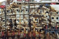 Costa Concordia wreckage torn apart for scrap 5 years after the cruise liner capsized