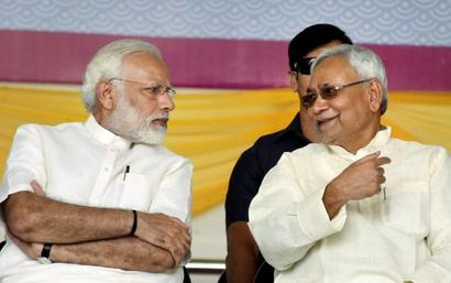 PM Modi shares stage with Nitish for 1st time after alliance