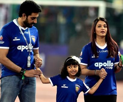 PHOTOS: Aishwarya, Aaradhya cheer for Abhishek's football team