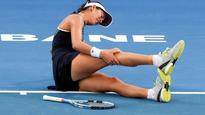 Australian Open: Fitness scare for World No.2 Garbine Muguruza as Brisbane proves too hot