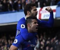 Costa sends Chelsea back on top with ninth win in a row