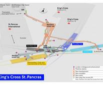 Why do the signs at King's Cross St Pancras, London's biggest tube station, seem to take you the long way round?