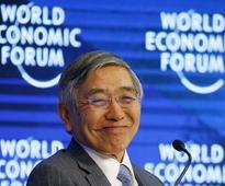 BOJ Kuroda says solid U.S. growth may push up dollar, upbeat on global outlook