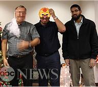 FINAL PHOTO: San Bernardino Jihadi smiles for camera moments before SLAUGHTERING 14 Christian co-workers at Christmas party