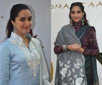 Shraddha Kapoor and Sonam Kapoor unveil a new collection of Padmini Kolhapure`s PadmaSitaa!