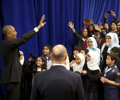 We are one American family: Obama in US mosque