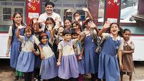 Education on Wheels journey takes Joshi France