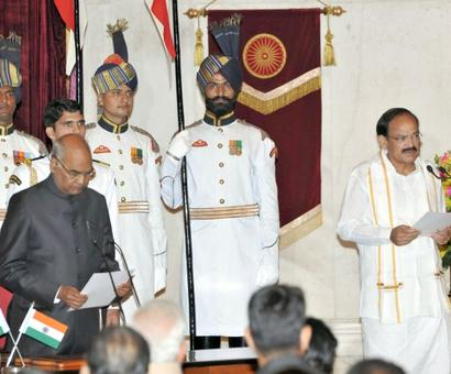 Venkaiah Naidu takes oath as Vice President