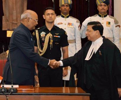 Justice Dipak Misra sworn-in as 45th CJI