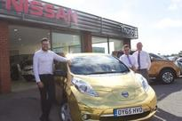 All-gold Nissan rolls into Louth in celebration of Olympic and Paralympic heroes