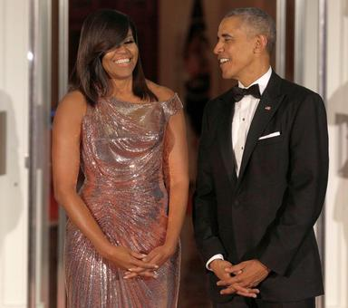 Keeping the best for last! Michelle sizzles and shines at final state dinner