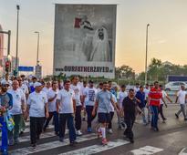 Sheikh Abdullah bin Zayed leads walk in Abu Dhabi - in pictures
