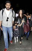 Aishwarya Rai Bachchan looks stunning as she returns from her vacay with Abhishek and Aaradhya  view HQ Pics
