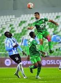 Upbeat Al Ahli ready for El Jaish clash Al Ahli SC player Abdul Ghafoor Abdullah (right) heads the ball during a QSL...