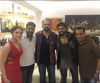 Check out Ranveer Singh Tamannaah Bhatia and Rohit Shetty surprise Ajay Devgn