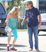 Goldie Hawn shares chuckle on romantic stroll with Kurt Russell
