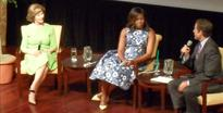 Mrs. Bush, Obama Share What Life Is Like in the White House During Time of War