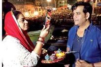 Ravi Kishan goes for a moon walk with wife Preeti in Banaras