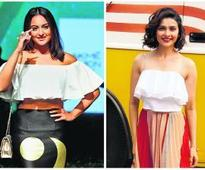 Sonakshi, Shraddha and Prachi are loving the Bardot top