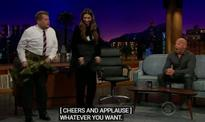 Deepika stuns 'The Late Late Show with James Corden' with 'lungi dance'