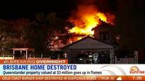 Multi-million dollar Brisbane home gutted by fire