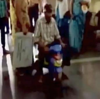 Shameful! Unable to pay bribe for wheelchair, patient forced to use toy tricycle
