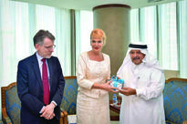 QBA hosts Swedish business delegation QBA Chairman Sheikh Faisal bin Qassim Al Thani with the Swedish business del...