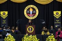 First Lady Delivers Commencement Addresses at Bowie State, Martin Luther King Jr. Magnet High School