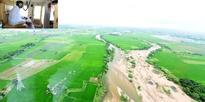 CM K. Chandrashekar Rao aerial survey on flood situation