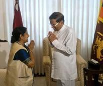 Swaraj calls on Sirisena, holds talks with TNA leaders