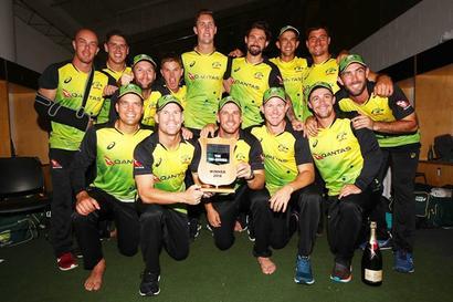 Aus whip NZ in T20 tri-series final, take No. 1 ranking