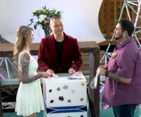 Zappos CEO Tony Hsieh officiated the wedding of 2 employees in front of staff and his pet alpacas