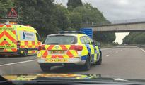 M54 motorway closed in both directions due to 'concerns over woman's welfare'