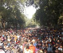 Mevani gathers Hunkaar rally while Delhi Police stocks canons for precaution