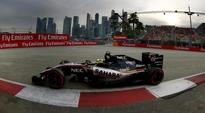 Force India's Sergio Perez finishes eighth in Singapore GP