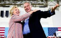 The Latest: Clinton chooses Tim Kaine as running mate