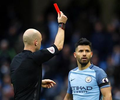Man City's Aguero gets four-match ban for violent conduct