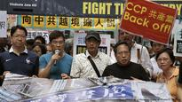 Hong Kong protest against Chinese rule