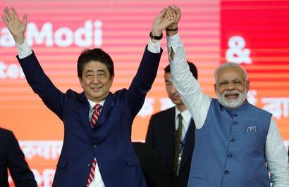 Modi greets 'dear friend' Abe on re-election