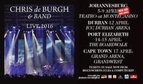 Attention Chris De Burgh fans: New JHB date!