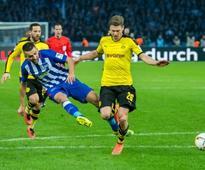 Aubameyang fails to fire as Mourinho sees Dortmund draw (AFP)